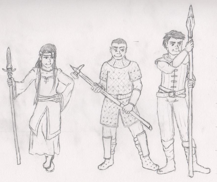Half-orcs by Elfhawk