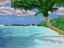 April Draw 7- Beach by Elfhawk