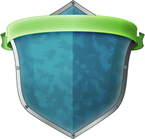 Shield with a ribbon