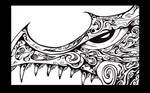 Dragon Head 05 Eye Detail by mk-thommo