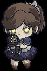 Little Sister _ Bioshock Chibi Charm by pinkplaidrobot