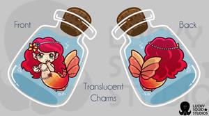 Little Bottle Mermaid_  Translucent Charm Design