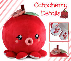 Octocherry Fruitimals Plush by pinkplaidrobot