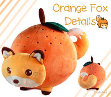 Orange Fox Plush! by pinkplaidrobot