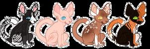 Kitties Adoptables OPEN(4/4) by BambooSpllash