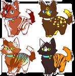 Kitties Adoptables OPEN[#5] by BambooSpllash