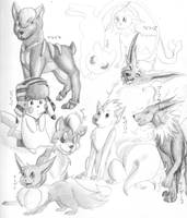 Pokemon doodles by Awkwardly-Handsome