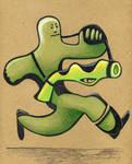 Militant Green Man by Watyrfall