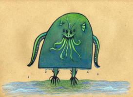 Cthulhu Monster by Watyrfall