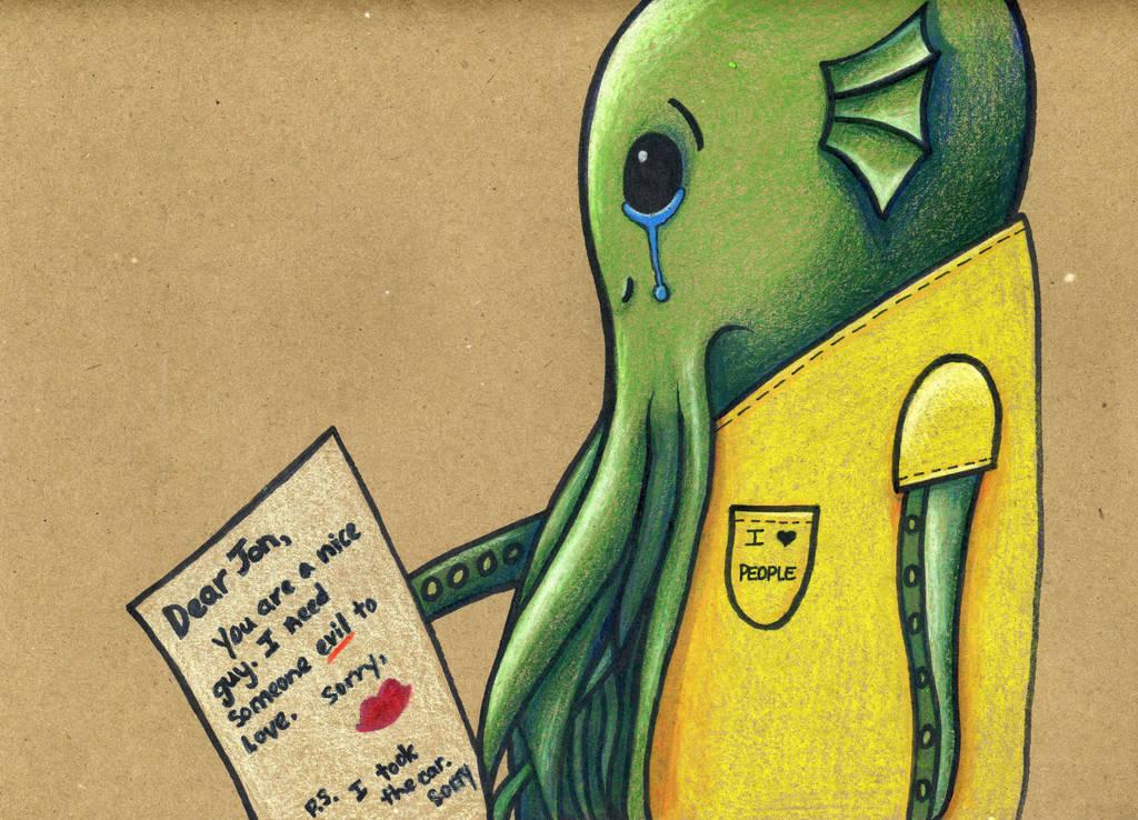 Dear Jon Cthulhu by Watyrfall