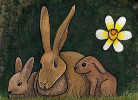 Bunny Family by Watyrfall