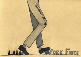 Labor VS Work force by Watyrfall