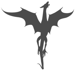 Vector Dragon Silhouette by Watyrfall