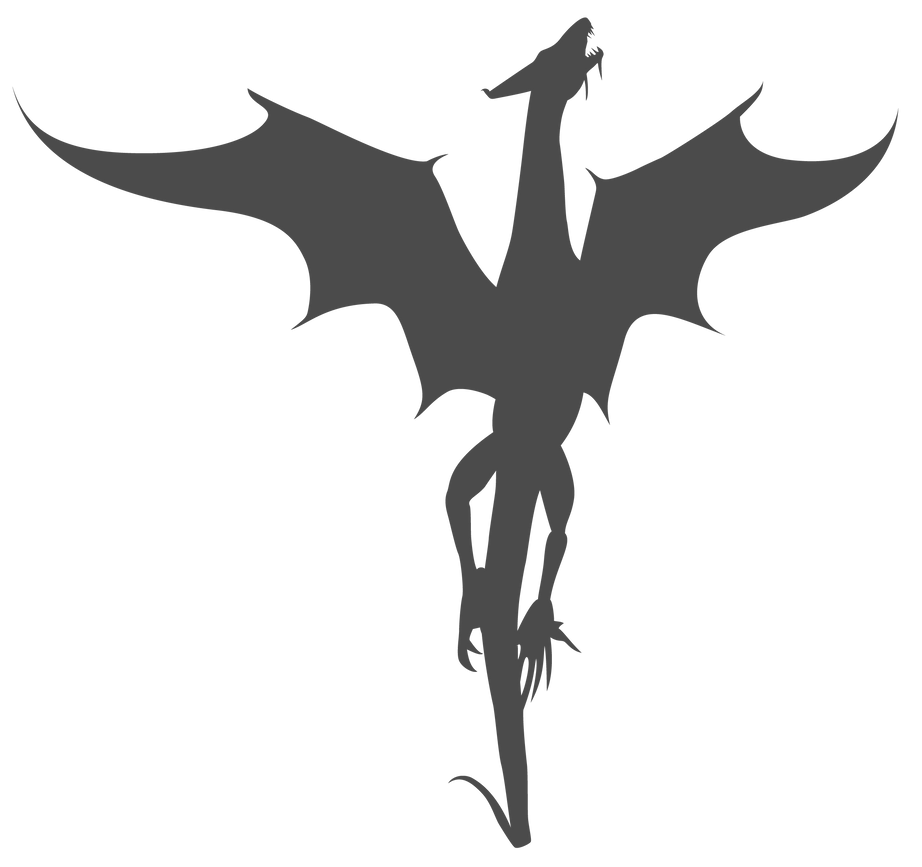 Rising Dragon Silhouette A Study in Silhouettes Pinterest