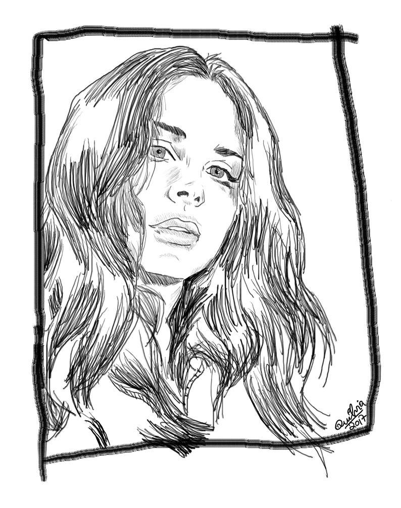 Lana del rey sketch by quilvia on deviantart for Lana del rey coloring pages
