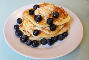 Ricotta pancakes with blueberries and maple butter by MerenwenTheBeautiful