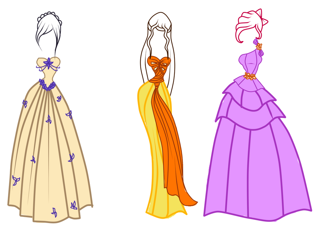 winxdesirix dresses by caboulla on deviantart