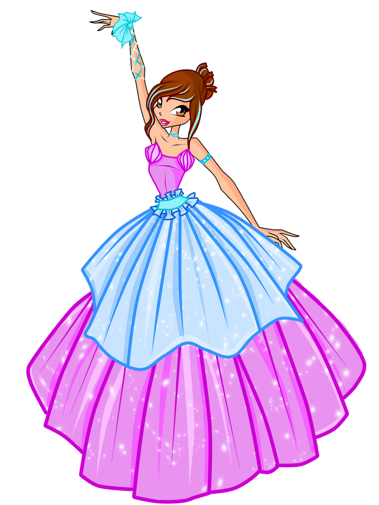 WINX-COM BALL GOWN by caboulla on DeviantArt