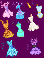 DRESSES ADOPTABLE *AUCTION* till 1st june by caboulla