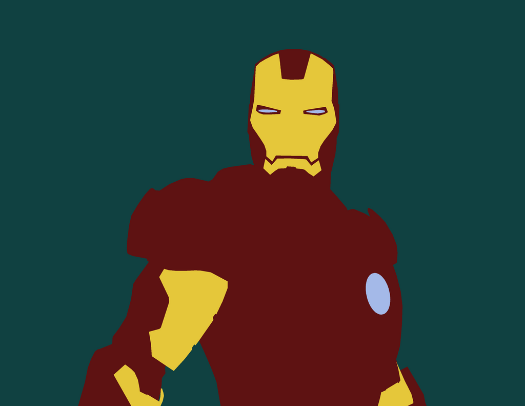 Wallpaper Minimalistic Iron Man