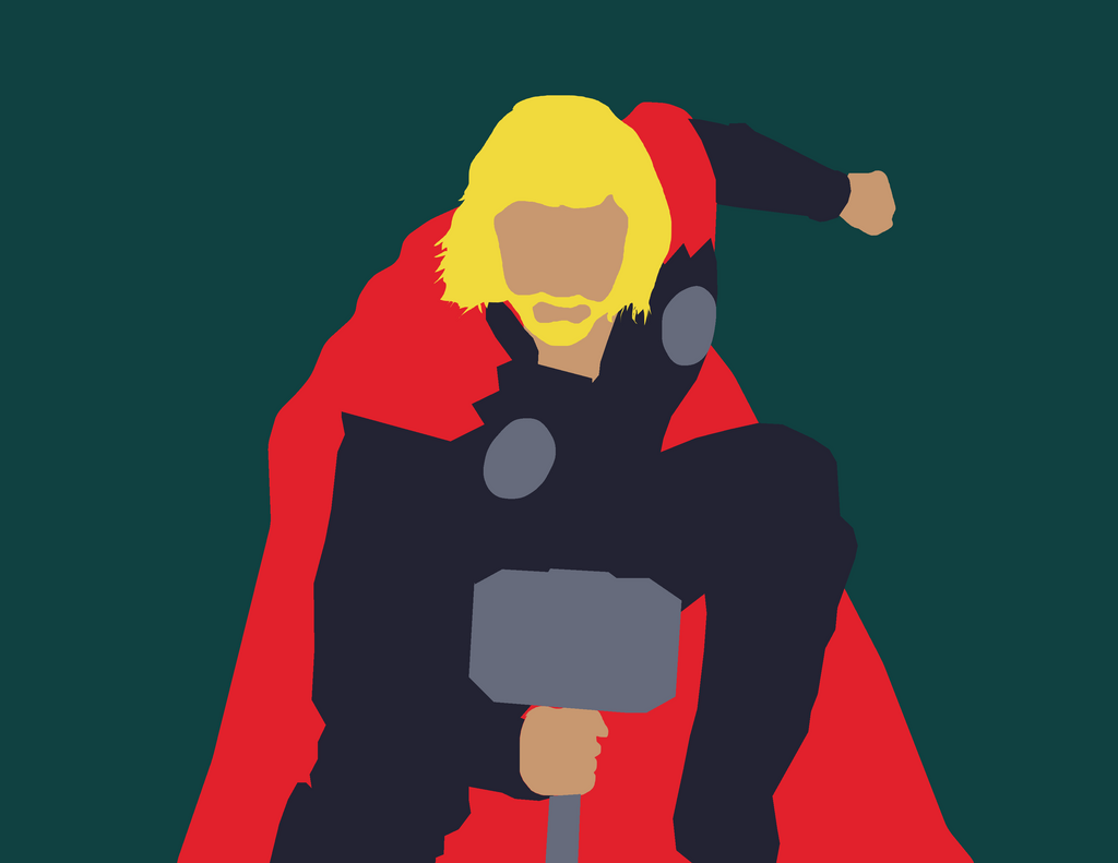 Minimalist marvel thor by maclimeszero on deviantart for Minimal art hero