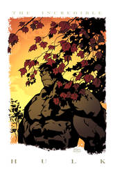 hulk thinkin' color by a-archer