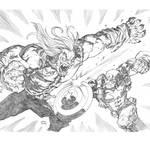 Sabertooth and Captain America