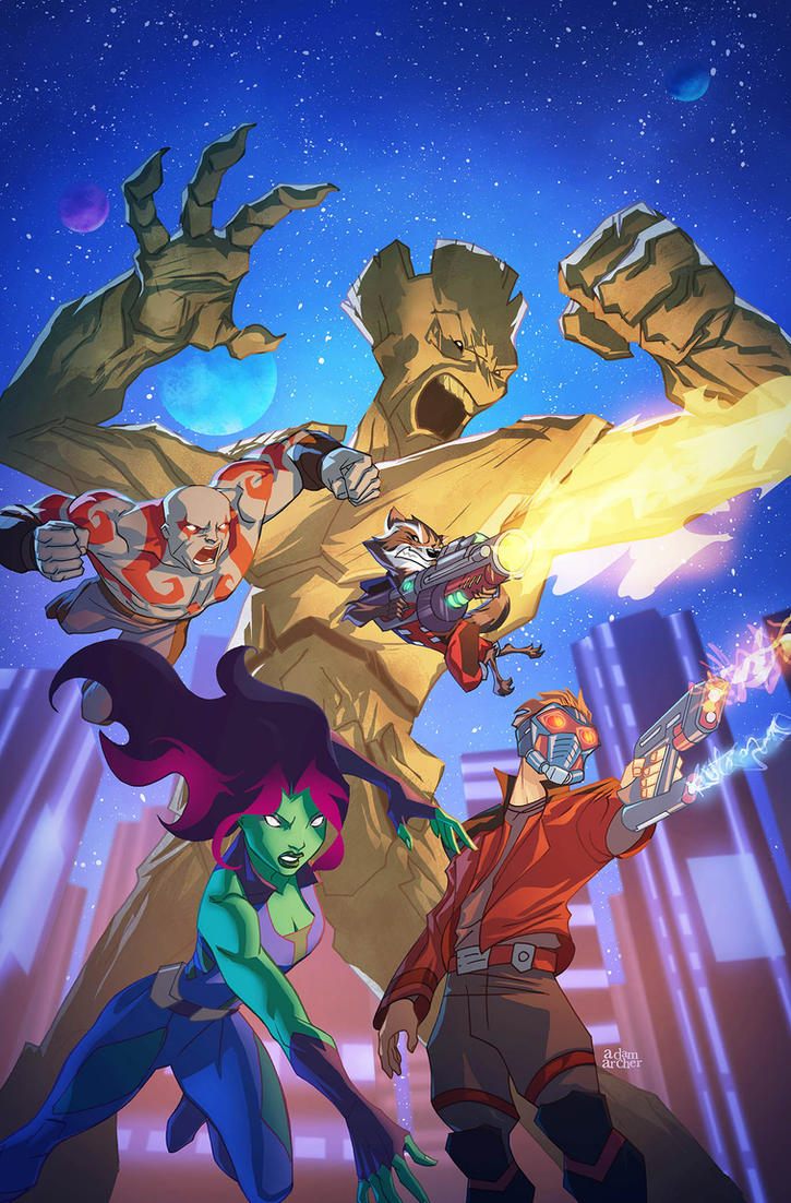 guardians of the galaxy cover 2 by a-archer