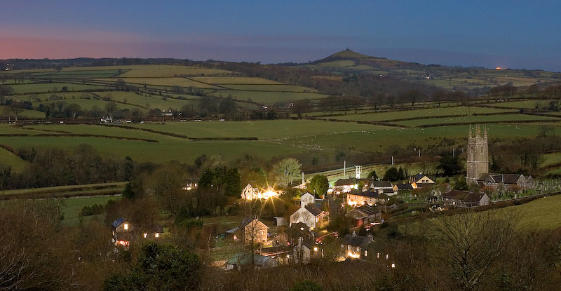 Moonlight on Peter Tavy by Alex37