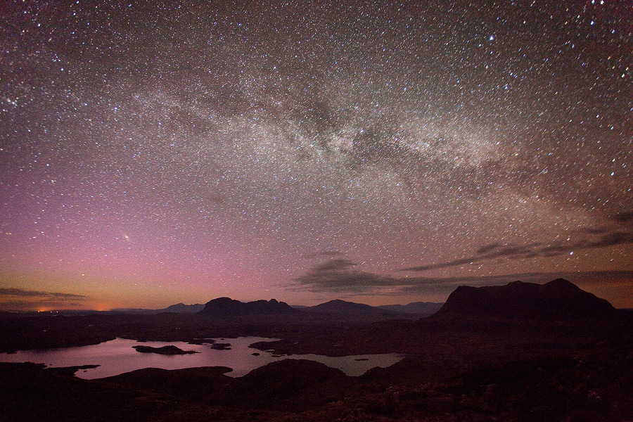 Galaxy over Assynt by Alex37