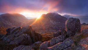 Glyder Fach and Tryfan