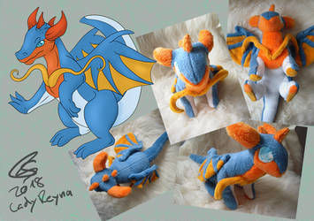 Blue penguin dragon by LadyReyna