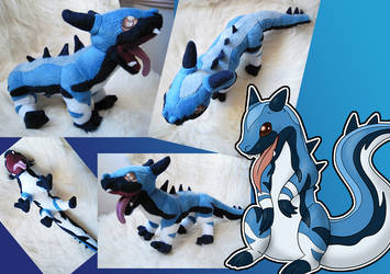 Blue the dragon or the cool lizard by LadyReyna