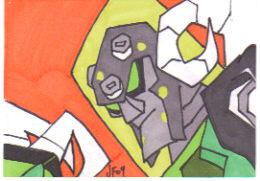 Oil Slick Sketch Card by Robomonkey82