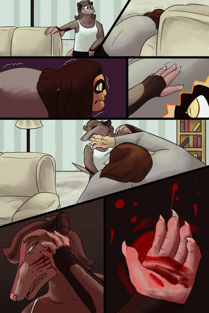 Ouch. - OC Art by DrowsyInsomnia
