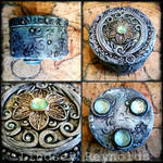 Polymer clay covered tin