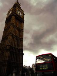 Dark Big Ben and Double Decker