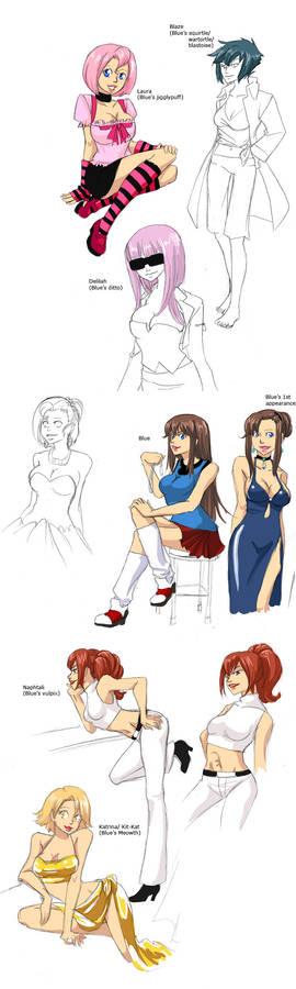 Gijinka: sketchdump4