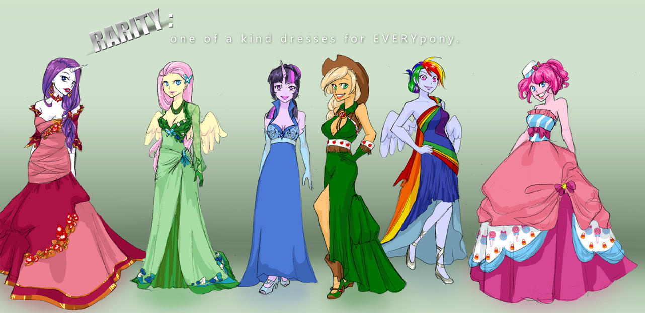 Mlp College Au Gala Dresses By Klinanime On Deviantart