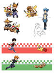 Pokemon:Pikachus and Eevees
