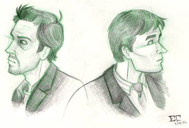 House and Wilson sketches by DeviDarkWolf
