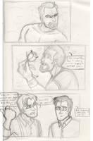 Jayne and the roses sketch by DeviDarkWolf