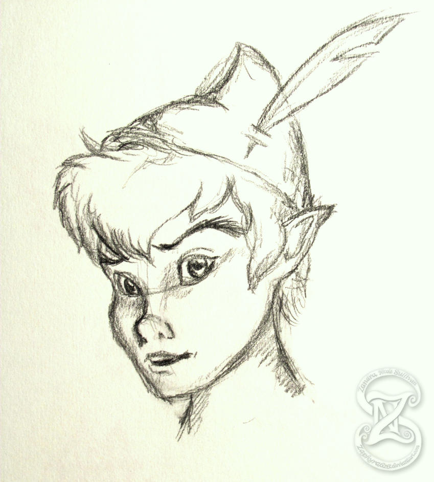 Peter Pan Quick sketch by Zaphyra626 on DeviantArt