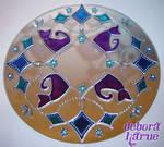Mandala 017-Cats in the mirror
