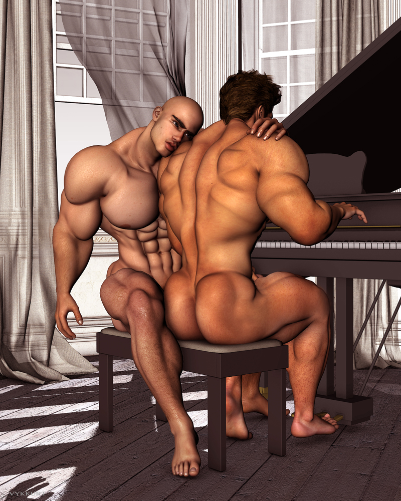 Body builder gay hot male muscle naked-8421