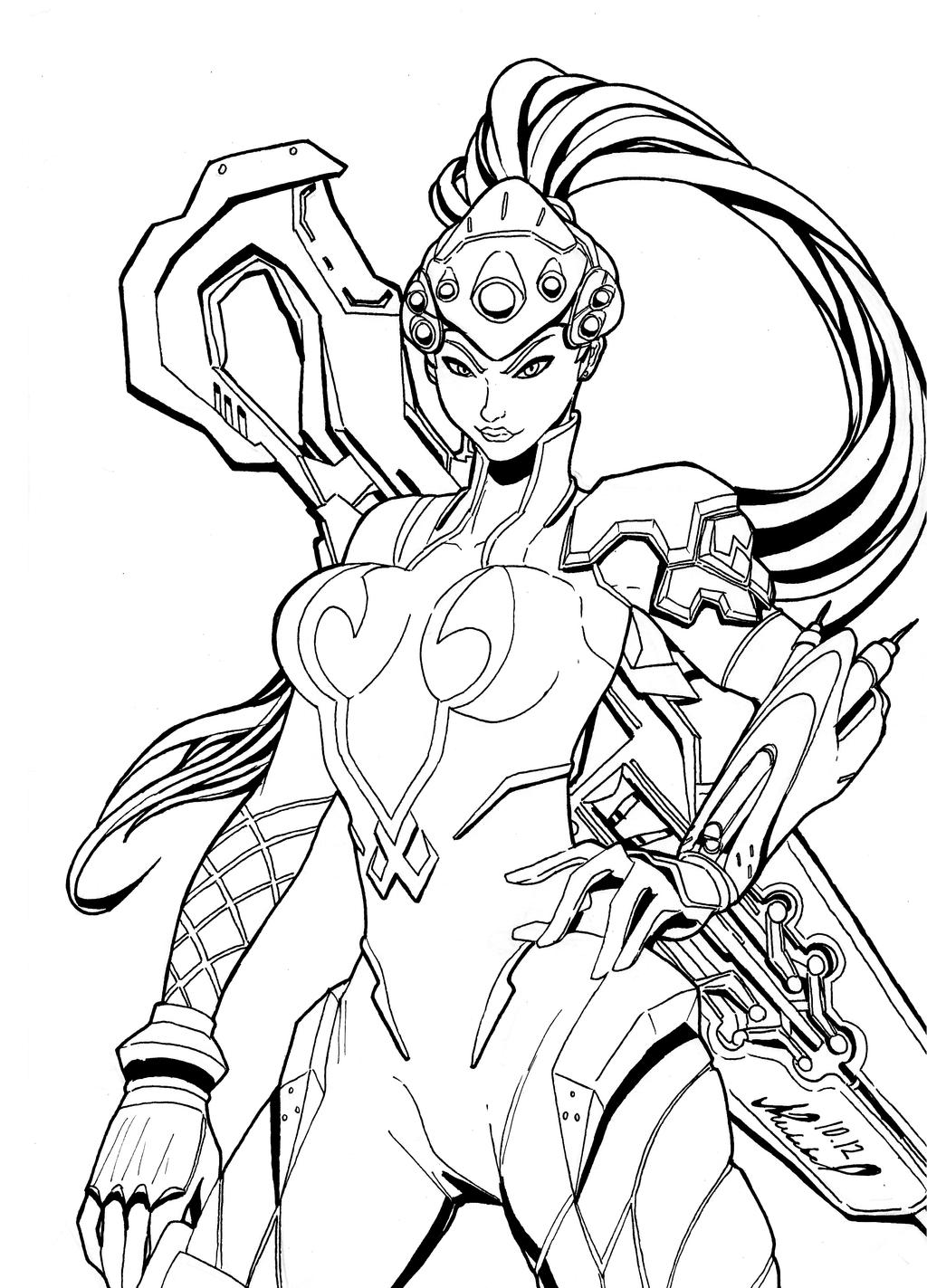 Kleurplaat Overwatch Doomfist Widow Overwatch By Abylaikhan On Deviantart
