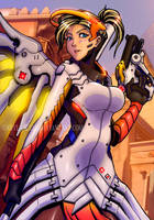 Mercy - Overwatch (color) by Abylaikhan
