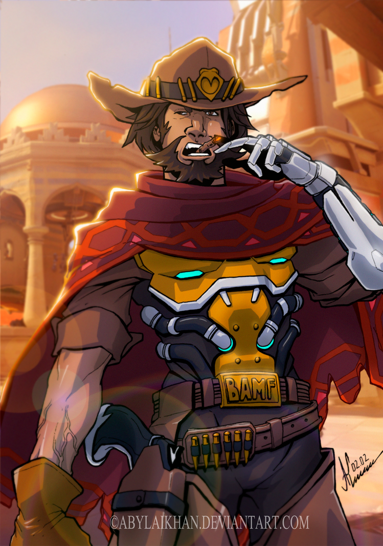 McCree - Overwatch (color) by Abylaikhan