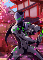 Genji-Overwatch (color) by Abylaikhan