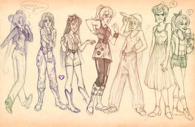 Sailor Senshi new style by Annorelka